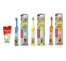 Colgate Minions Battery Toothbrush Blue Orange Yellow + Toothpaste 50ml