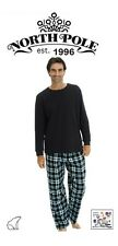 MEN'S 2 PC. LUXURY FLEECE  PAJAMA SET WITH THERMAL LONG SLEEVE TOP