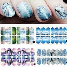 Beauty Lady Nail Art Water Transfers Stickers Decals Paysage Manicure DIY Wraps
