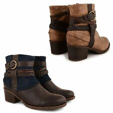 LADIES COWBOY BOOTS WOMENS ANKLE CHELSEA RIDING WESTERN CUBAN HEELS SHOES