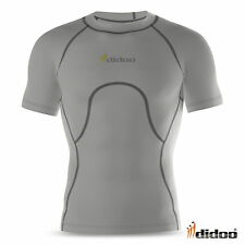 Mens New Short Sleeve Compression Shirt Baselayer Top Skin tight Fitness Sports