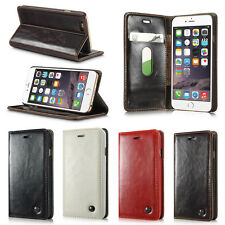 Luxury Magnetic Flip PU Leather Wallet Card Holder Stand Case For Mobile Phone