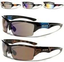 NEW MENS LADIES SUNGLASSES XLOOP DESIGNER BLACK LARGE WRAP SPORT CYCLING FISHING