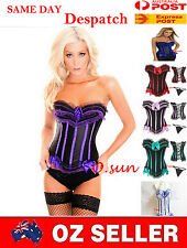 PLUS SIZE S-2XL WOMEN Lace up Sexy CORSET LINGERIE Baby doll/G-string/Garter