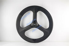 carbon 3 spoke wheel Rear wheel 65mm depth for road/track bike 700C tubular