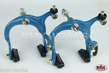 Genuine Dia-Compe MX883 Blue Brake Calipers Pairs - Old School Freestyle BMX