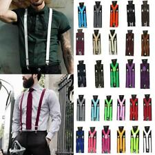 New Mens Womens Suspenders Braces Adjustable Y-shape Clip-on Unisex Braces 45P2