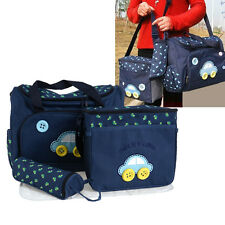 4 PCS/Set Baby Changing Diaper Nappy Bag Mummy Mother Handbag with changing pad