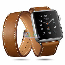 42/38mm Watch Band Genuine Leather Strap Wrist Band Replacement for Apple iWatch