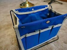 """8""""x5""""x6.5"""" Standing Organizer Pouch 3 Side Pockets Metal Stand """"Thanks..You Do"""""""