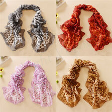 Fashion Women Chiffon Leopard Long Soft Scarf Shawl Scarves Wraps Stole 127a