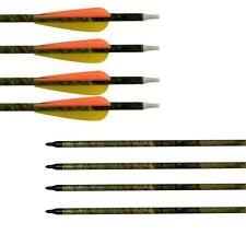 """31"""" Camouflage Archery Carbon Arrows 3"""" Vanes Recurve Compound Bow Shoot Hunting"""