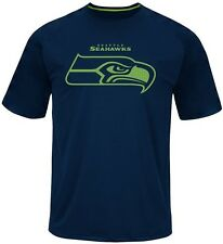 Seattle Seahawks Majestic Skill In Motion Mens Navy Shirt Big & Tall Sizes