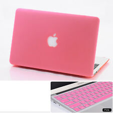 2in1 Pink Frosted Hard Case Cover + KB Skin For Macbook Air Pro 11 12 13 15 ''