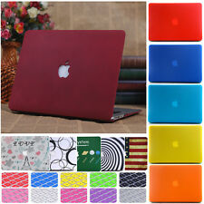 Frosted Matt Hard Case + Free Keyboard Cover for Macbook Air Pro 11 12 13 15 ''