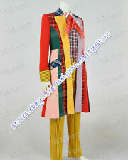 Doctor Brown Who 6th Sixth Dr Cosplay Costume Lattice Stripe Outfit In Stock