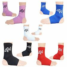 4Fit Elasticated Ankle foot Brace leg support pain injury relief Leg & Foot Blue