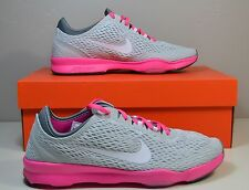 NWT WOMENS NIKE ZOOM FIT PLATINUM PINK RUNNING SNEAKERS SHOES SZ 7 7.5 8.5
