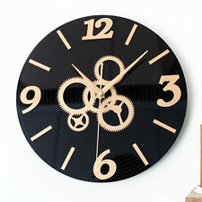 Creative Retro Wall Clock Gear CD Art Watch Home Decor 11.8""
