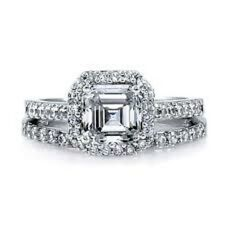 Antique Style CZ Engagement Ring