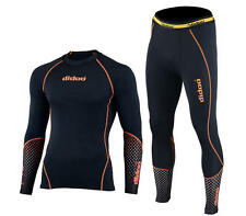 Didoo Mens New Compression Armor Base layer Shirt Skin Fit Tops + Trousers Set