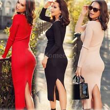 Women Long Sleeve Backless Bandage Bodycon Cocktail Club Party Sexy Dress PW20