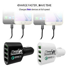 12V 24V Car USB Charger Compatible QC 2.0 Quick Charge -4 Port 72W - 2 Port 36W