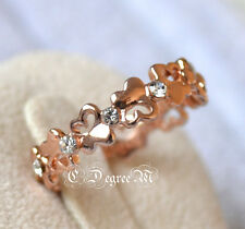 18K Rose Gold GP Butterfly Thumb Pinky Ring All Size Stackable Celeb Style