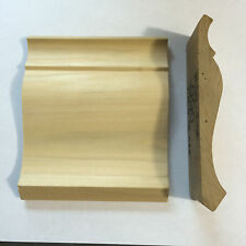 Lot Of 10pc, 80ft, 3 1/4 CM-B-CR Solid Wood Crown Molding