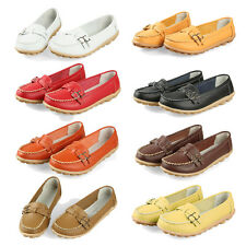 New women flats genuine leather shoes women slip on WS
