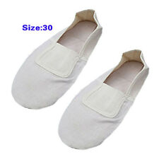 White Pair Girls Dancing Dance Soft Ballet Shoes Size 12 WS