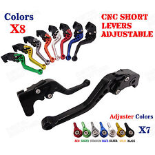 CNC Short Brake Clutch Levers Set for Triumph Bonneville/SE/T100/Black 06-14 15