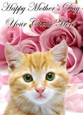Kitten Mothers Day Personalised Greeting Card pidmother Mum Mummy