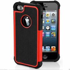 Shock Proof Hybrid Hard Silicone Builder Case Cover For Apple iPhone 5 5S 5C