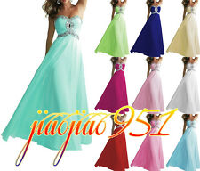 Stock New Hot Formal Prom Party Ball Gowns Evening Long Wedding Bridesmaid Dress