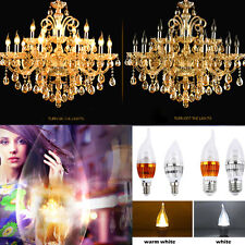 E14 E27 3W/9W Flame High Power Chandelier LED Candle Light Bulb White 85-265V AU