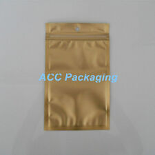 Flat Clear/Gold/Silver Resealable Plastic Zip Lock Bags With Hang Hole 9cmx15cm