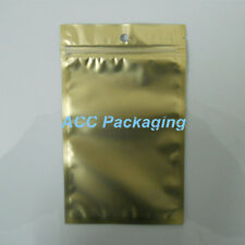 Flat Clear/Gold/Silver Resealable Plastic Zip Lock Bags With Hang Hole 12cmx20cm