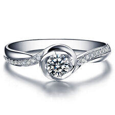 Round Shape Certified Diamond Engagement Ring 14k White Gold Diamond Ring
