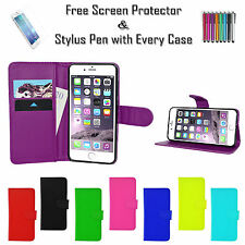 Leather Pu Wallet Flip Case Cover ID Cash Holder For Apple iPhone Various Phones