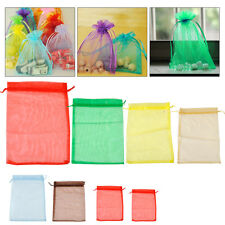 100x Organza Jewelry Candy Gift Pouch Bags Wedding Party Favors Decoration Bags