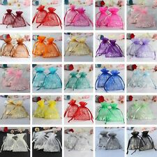50 Strong Sheer Organza Pouch Wedding Favor Bags Jewelry Gift Candy Decor 7x9cm