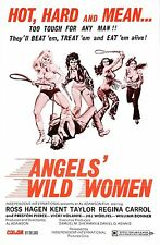 ANGELS WILD WOMEN Movie Poster 1972 Hells Angels Biker Exploitation