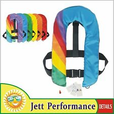 A+Quality Inflate Inflatable Life Jacket Vest Buoyancy Aid PFD Rainbow Automatic
