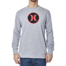 Hurley Block Party Crew Mens Jumper - Heather Grey All Sizes
