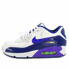 Nike Air Max 90 LTR GS [724852-105] NSW Running White/Hyper Grape-Ghost Green