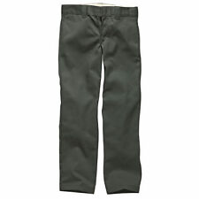 Dickies Wp873 Slim Straight Work Mens Pants Chino - Charcoal Grey All Sizes