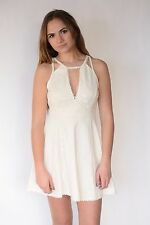 New Free People Brand Lace A Line Dress MAGENTA or IVORY