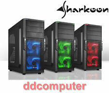 Sharkoon T3-W Gaming PC Case Front USB 3.0 ATX Mid Tower, Side Window, NO PSU