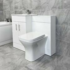 1000mm Turin Vanity Furniture Basin Sink and Toilet Set Bathroom Suite White